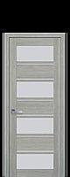 Межкомнатные двери Новый стиль Элиза  со стеклом сатин дуб дымчатый