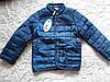 Демисезонная куртка для мальчика с вставками велюра