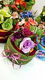Тортик из трех махровых полотенец (40*70+40*70+30*50) Роза премиум Domiko, фото 2