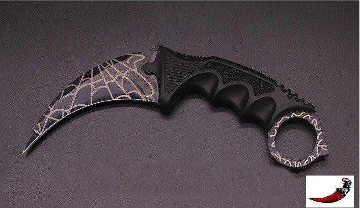 Нож керамбит с чехлом для скрытого ношения.