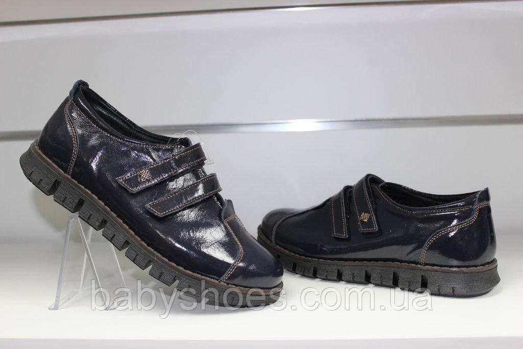 Туфли кожаные для девочки Берегиня 0764 полуботинки, ортопед р-р 35