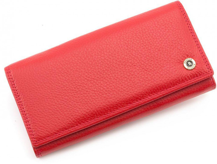 58334d0f9514 Красный матовый женский кожаный кошелек на магнитах Boston с внутренней  металлической рамкой. S6001B Red
