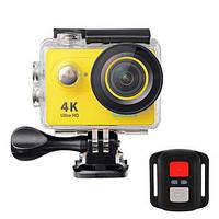 Экшн камера Eken H9R с пультом желтая