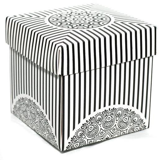 Упаковка для гуртки картонна з кришкою (Ажур) біла