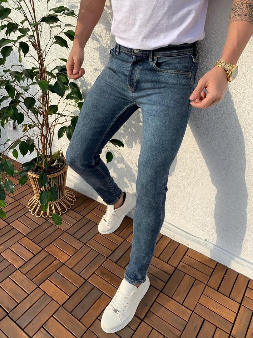Джинсы мужские серые Off White топ-реплика