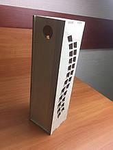 Подарункова дерев'яна коробка для пляшки з з фігурним вирізом з боків