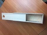 Подарункова дерев'яна коробка для пляшки з з фігурним вирізом з боків, фото 4