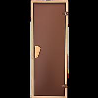 Дверь для бани и сауны Tesli  2000 x 700 тон бронза., фото 1