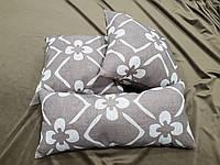 Комплект подушек Цветок коричневый ,3шт