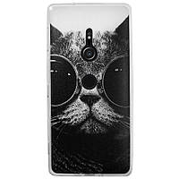 Чехол с рисунком Printed Silicone для Sony Xperia XZ2 Кот в очках