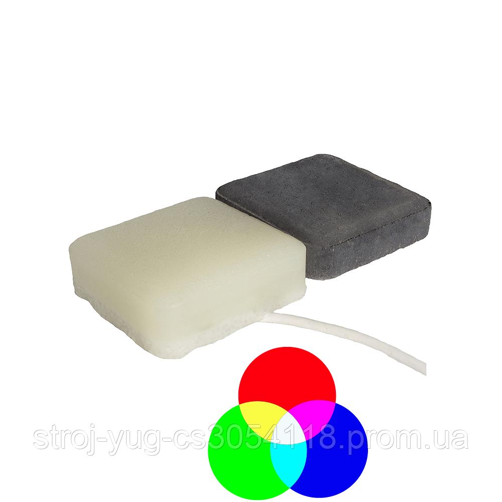 Светодиодная тротуарная LED плитка CUB-STONE, RGB, 40 мм