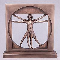 "Статуэтка Veronese 030185 23 см бронзовая ""Леонардо"""