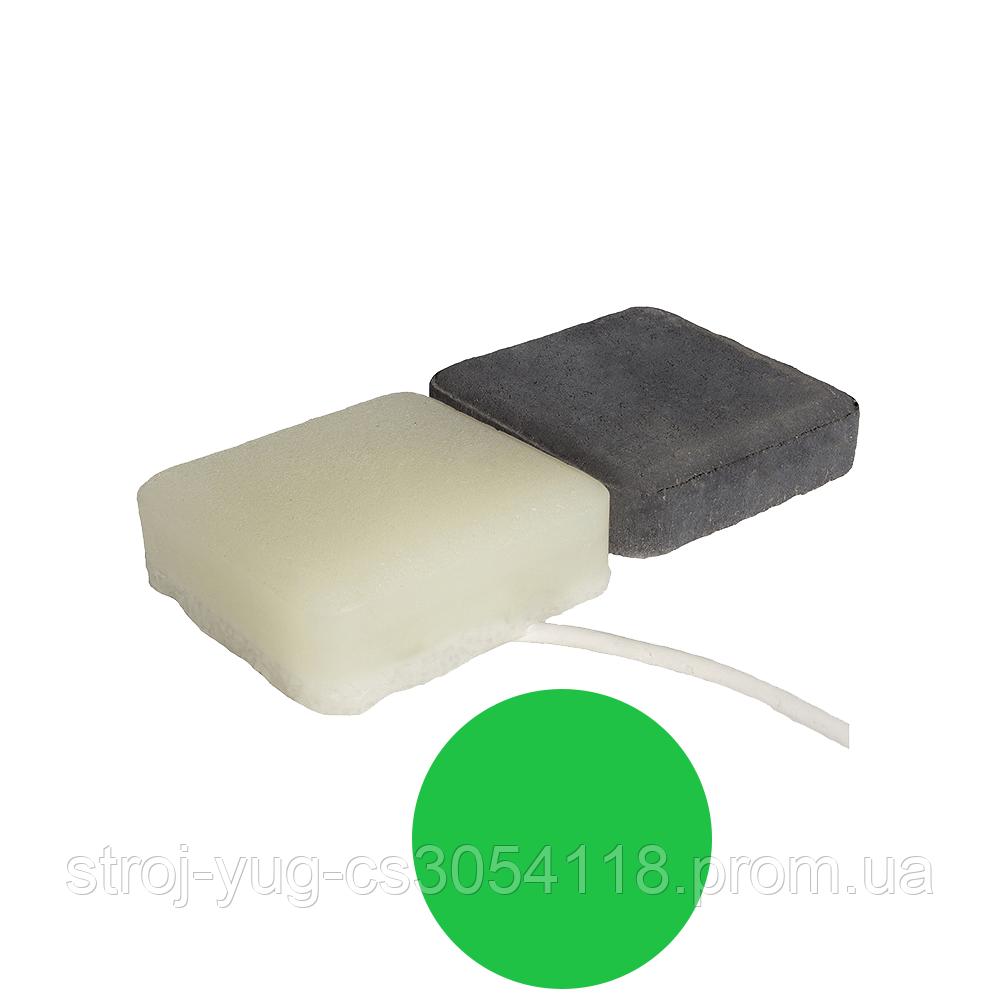 Светодиодная тротуарная LED плитка CUB-STONE, зеленый, 40 мм