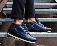 Мужские фирменные кожаные кроссовки Ax Boxing. Демисезонные ботинки-кроссовки, модель 2018 год