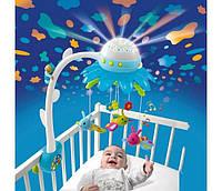 Мобиль музыкальный на кроватку с проектором Smoby Cotoons карусель музыкальная Цветок 110110 голубой
