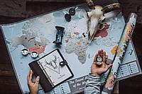 СКРЕТЧ КАРТА МИРА Scratch Map of the World Silver Подарок для путешественника