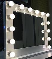Зеркало Белое Гримерное с Лампочками