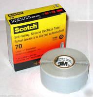 3М Scotch 70. Термостойкая самослипающаяся электроизоляционная лента (25мм х 9м х 0,3мм)