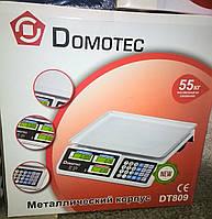 Торговые весы Domotec DT809 55 кг (металл, аккумулятор 6V)