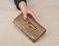 Женский кошелек из натуральной кожи CROCODILE (ALIGATOR) 7 цветов