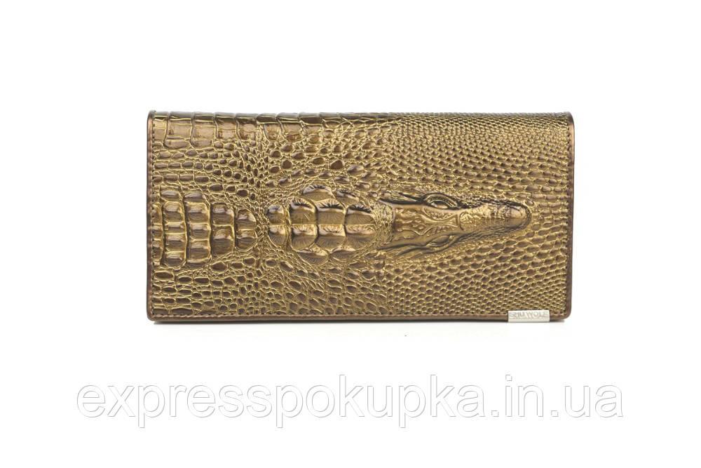 f7836cc51269 ... Женский кошелек из натуральной кожи CROCODILE (ALIGATOR) Золотой, ...