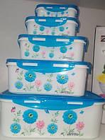 Набор пищевых контейнеров с крышками(Микс)