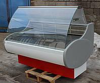 Холодильная витрина среднетемпературная «МХМ» 1.6 м. (Россия), широкая выкладка 64 см., Б/у , фото 1