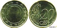 Монета 20 евроцентов Бельгия 2006г.
