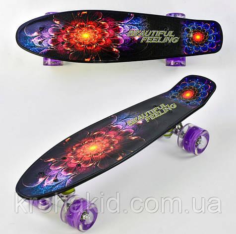 Скейт F 8740  Best Board, доска=55см, колёса PU, СВЕТЯТСЯ, d=6см  , фото 2