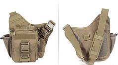 Тактическая - городская универсальная сумка Silver Knight с системой M.O.L.L.E coyote (865 coyote)
