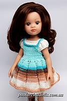 Платье с фартуком для кукол Паола Рейна