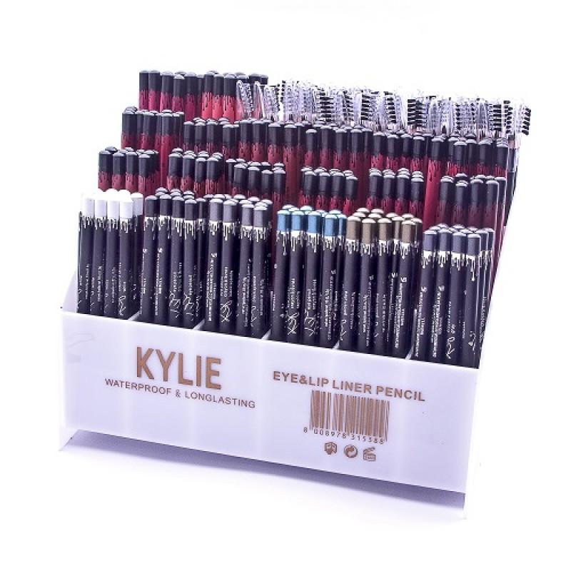 Набор контурных карандашей KYLIE Waterproof Longlasting Eye&Lip Liner Pencil 240 в 1