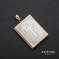 Кулон открывающийся Xuping позолота 18к 35х27х47мм in-19х29мм
