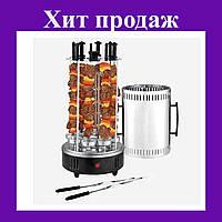 Электрошашлычница Domotec вертикальная на 6 шампуров