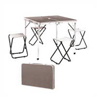 Набор мебели для пикника стол-чемодан + 4 стула