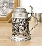 Коллекционный оловянный мини бокал, пищевое олово, Германия, трактир, фото 1