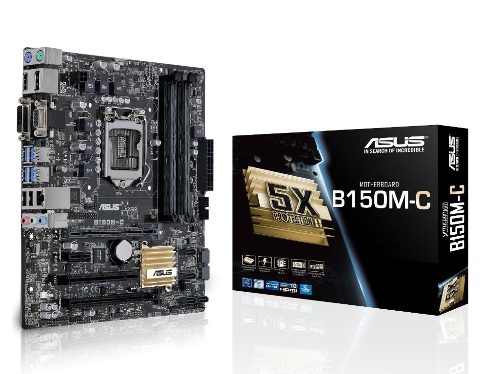 "Материнская плата Asus B150M-C s.1151 DDR4 ""Over-Stock"" Б/У"