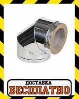 Колено термо нерж/нерж 90 Вент Устрой  толщина 1 мм, фото 1