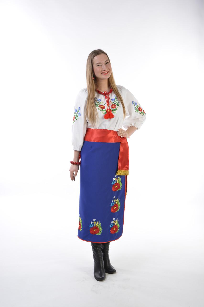 Украинский женский костюм (вышиванка+плахта+ пояс)