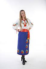 Украинский женский костюм (вышиванка+плахта+ пояс), фото 2