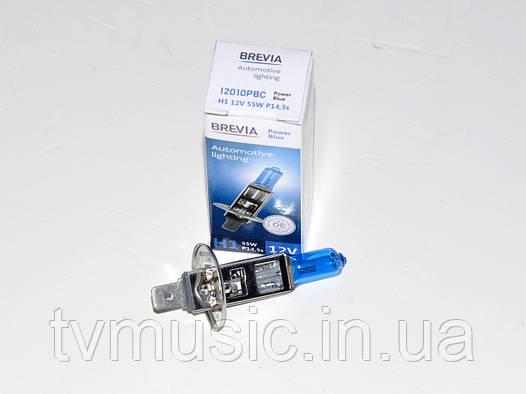 Лампа галогенная Brevia H1 Power Blue(12010PBC)