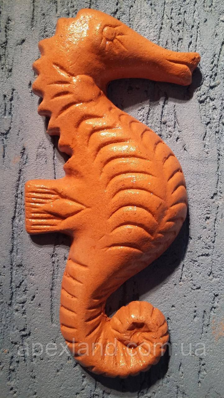 Настенный декор из терракоты Морской конек