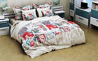 Детское (подростковое) полуторное постельное белье бязь Gold - ДЕВОЧКА С СУМОЧКОЙ