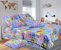 Детское (подростковое) полуторное постельное белье бязь Gold - ИГРА В КОШКИ