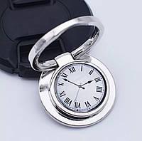 Кольцо-подставка/попсокет для телефона «Ancient time» круглый металлический серебристый, фото 1
