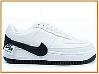 76f3ee16 Женские кроссовки Nike Air Force 1 Jester White Black (найк аир форс 1  низкие,