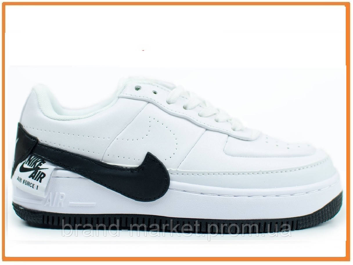 76f3ee16 Женские кроссовки Nike Air Force 1 Jester White Black (найк аир форс 1  низкие,
