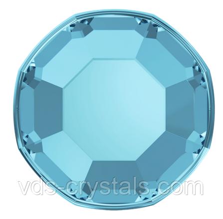 Термоклеевые стразы Сваровски 2000 Aquamarine (упаковка 1440 шт)