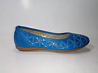Женские балетки синего цвета из экокожи ТМ Inblu, фото 1