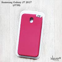 Soft-touch чехол HQ Silicone Cover жидкий силикон для Samsung Galaxy J7 2017 (j730) (dark rose)